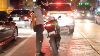 getlinkyoutube.com-Flouk Desmo Feat. หน้าตาดีขี่ Bigbike - No More Shy. (Traffic Jam in Bangkok)