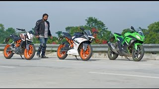 getlinkyoutube.com-KTM RC390 vs Duke390 vs Ninja300 | Review and Comparison Road Test | Project Upshift