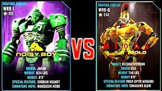 Real Steel WRB Noisy Boy VS Midas Gold NEW Robot updating (Живая Сталь)