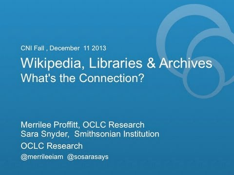 Video: Wikipedia and Libraries: What's the Connection?