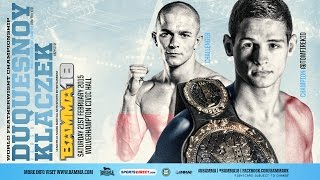 getlinkyoutube.com-BAMMA 18: (Main Event) Tom Duquesnoy vs Kryzstof Klaczek