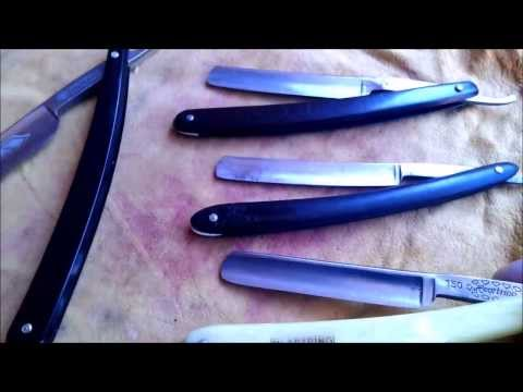Straight Razor/ Rasiermesser Collection & Cutting Test HD