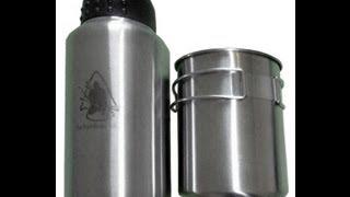 getlinkyoutube.com-Pathfinder Steel Bottle and Nesting Cup Review
