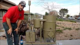 getlinkyoutube.com-amazing homemade gasifier uses wood pellets to run generator -- renewable alternative energy video