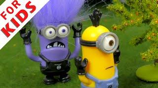 getlinkyoutube.com-The Minions VS The Evil Minion . Cartoon for kids.