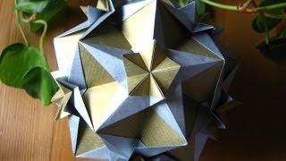 getlinkyoutube.com-Origami ★ Cassiopeia Kusudama ★