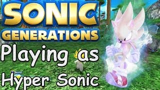 getlinkyoutube.com-Sonic Generations (PC) - Planet Wisp (Original) as Hyper Sonic - Mod