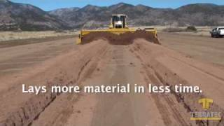 getlinkyoutube.com-AggreScreed - Gravel Grader - Road Building - Road Construction - Gravel Screed - Grading Roads