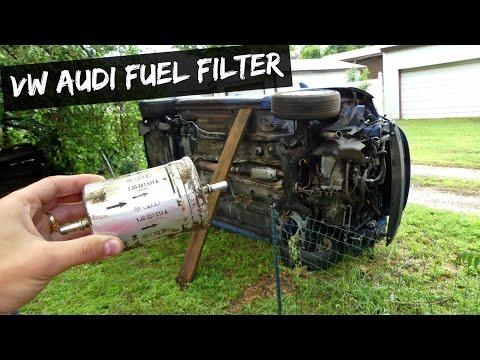 VW AUDI FUEL FILTER REMOVAL REPLACEMENT AUDI TT VW BEETLE GOLF MK4