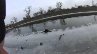 flushyoutube.com-FARGO FIRE DEPARTMENT - DOG RESCUE FROM ICY RED RIVER