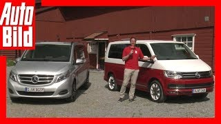 getlinkyoutube.com-VW T6 vs. Mercedes V-Klasse - Der beste Bulli (2015)