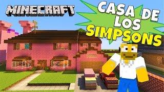 getlinkyoutube.com-Minecraft Mapa: Casa de los Simpsons y Ciudad Springfield