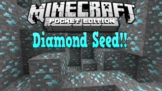 getlinkyoutube.com-Minecraft Pe - DIAMONDS AT SPAWN! - Minecraft Pocket Edition Best Diamond Seed Ever! 0.15.0