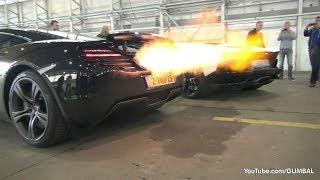 getlinkyoutube.com-McLaren 12C + Aventador Roadster Shooting Flames!
