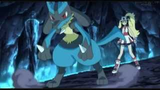 getlinkyoutube.com-Pokemon XY Episodio 30 Lucario Vs Blaziken