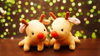 getlinkyoutube.com-Little Rudolph Sock Plush Tutorial - DIY Red Nose Reindeer for Christmas!