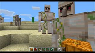 getlinkyoutube.com-How to make a Iron Golem in Minecraft, and how they work :D