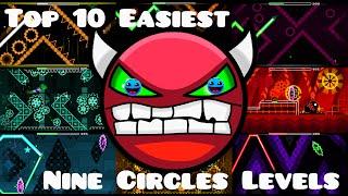 getlinkyoutube.com-Geometry Dash: Top 10 Easiest Nine Circles Levels [Demons Only]