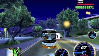GTA SA - Klakson Telolet & Strobo Bus Po Haryanto HR 93 New Tattoo 505