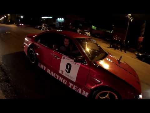 Nissan Cefiro с искрами из под колёс