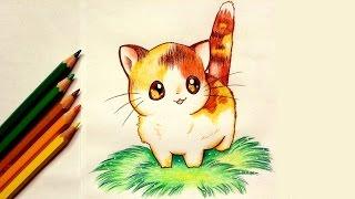 getlinkyoutube.com-Drawing a Kawaii Kitten