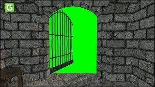 Dungeon door opens green screen 1