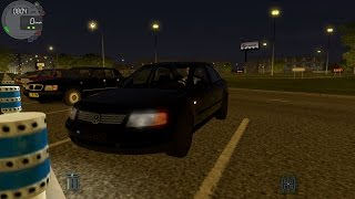 getlinkyoutube.com-City Car Driving 1.4.1 VW Passat B5 Night [G27]