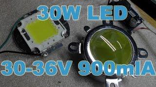 Led 30W 30 36V 900mlA светодиод для прожектора и оптика к ниму с алиэкспресс  aliexpress