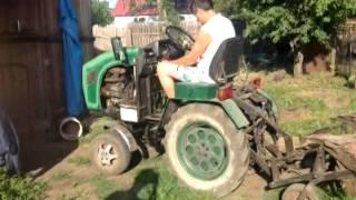 getlinkyoutube.com-Самодельный трактор с двигателем уд 2