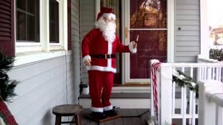 getlinkyoutube.com-Fixing My Walmart 2014 Gemmy Life Size Dancing Santa