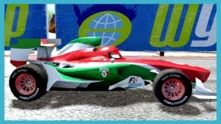 getlinkyoutube.com-PS3 Cars 2 The Video Game FRANCESCO BERNOULLI vs BOOST By Disney Cars Toy Club