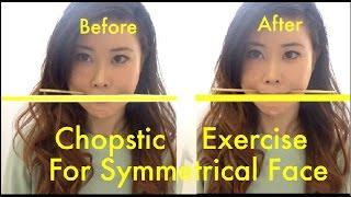 getlinkyoutube.com-Chopstick Exercise for Symmetrical Face | How to Fix Facial Asymmetry
