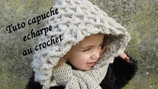 getlinkyoutube.com-TUTO ECHARPE CAPUCHE CROCODILE AU CROCHET Hooded Crocodile Crochet Hook Scarf