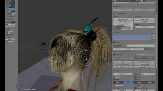 getlinkyoutube.com-Blender 2.59/2.6 Tutorial - Particle Hair part 1: Hair shape and physics (watch in HD!)