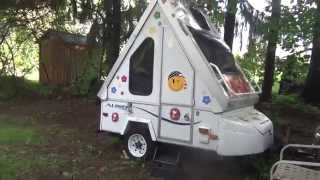 getlinkyoutube.com-Aliner Alite Folding Pull Behind Motorcycle Camper