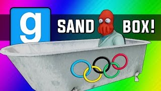 Gmod: Winter Olympics - Sled Build Race & Chaos! (Garry's Mod Sandbox Funny Moments) width=