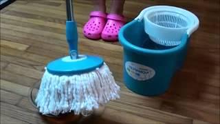 getlinkyoutube.com-ISPINMOP hurricane Easy magic floor mop 360° bucket 2 heads microfiber spin spinning rotating head