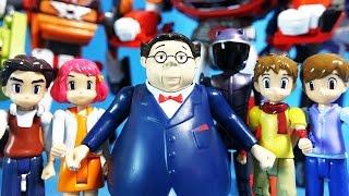 getlinkyoutube.com-또봇 6명 디룩 하나 두리 딩요 세모 바이커봇 또봇 D X Y Z 장난감 unboxing 6 Tobot Figure toys