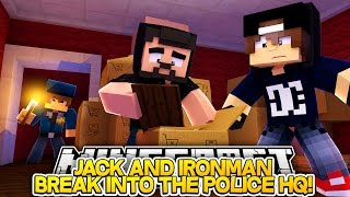 getlinkyoutube.com-Minecraft Adventure - IRONMAN AND JACK BREAK INTO THE POLICE STATION