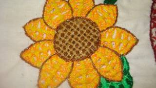 getlinkyoutube.com-Como Bordar Puntada Fantasia Girasol IV