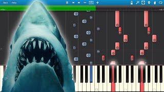 getlinkyoutube.com-Jaws - Theme Music John Williams - Piano Tutorial - Synthesia Cover