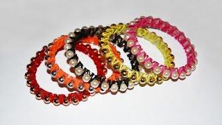 getlinkyoutube.com-DIY Стильные браслеты из пластиковой бутылки и бусин. Мастер класс \ Bracelets of plastic bottle .
