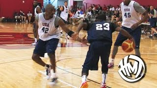 getlinkyoutube.com-Kyrie Irving Crosses Kobe Bryant! Throwback USA Scrimmage Highlights