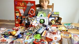getlinkyoutube.com-Fruit Ninja - Slice of Life - Angry Birds and Others cool toys ! from USA