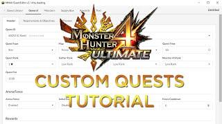 [MH4U] Monster Hunter 4 Ultimate Custom Quest Tutorial