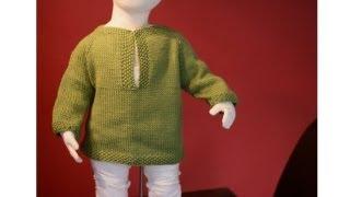 getlinkyoutube.com-Learn to Knit a Raglan Sweater - Toddler Tunic Part 1