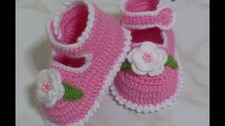 getlinkyoutube.com-طريقة عمل حذاء كروشيه للاطفال روووووووعة