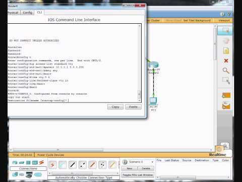 Part 2- Access Control List Configuration Demonstration - Cisco Router