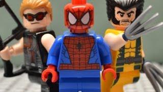 getlinkyoutube.com-Lego Spiderman Woverine and Hawkeye
