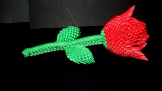 getlinkyoutube.com-How to make 3d origami Rose part1